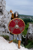 Ritter auf einem Felsen Lizenzfreies Stockbild