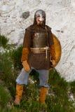 Ritter auf einem Felsen Lizenzfreie Stockfotografie