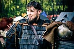Ritter auf mittelalterlichem Festival Lizenzfreies Stockbild