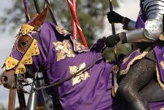 Ritter auf Pferd #1 stockbilder