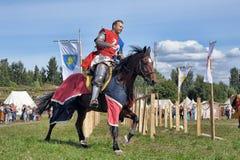 Ritter auf Pferd Stockbild