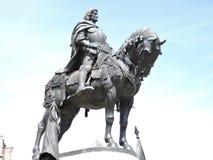 Ritter auf Pferd lizenzfreies stockbild