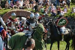 Ritter auf Pferdeturnier Lizenzfreie Stockfotos