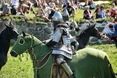 Ritter auf Pferdeturnier Lizenzfreie Stockbilder