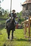 Ritter auf Pferdeturnier Stockfotografie