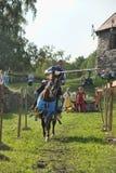 Ritter auf Pferdeturnier Lizenzfreies Stockfoto
