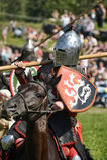 Ritter auf Pferdeturnier Lizenzfreie Stockfotografie