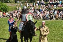 Ritter auf Pferdeturnier Lizenzfreies Stockbild