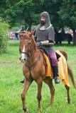 Ritter auf zu Pferde Stockfoto