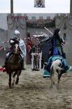 Ritter auf zu Pferde Lizenzfreies Stockfoto