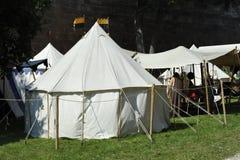 Ritter Camp, mittelalterliches Festival, Nürnberg 2013 Stockfotos