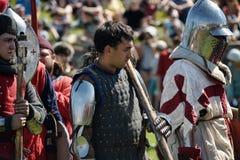 Ritter in der Rüstung auf dem Turnier Stockbild