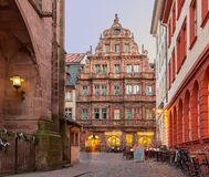 Ritter Hotel in old town of Heidelberg Germany Stock Image