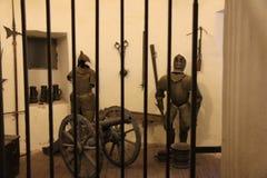 Ritter im Gefängnis Stockbild