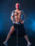 Ritter mit einer Klinge Stockfotos