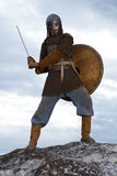Ritter mit einer Klinge Stockbilder