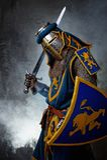 Ritter mit Klinge stockfoto