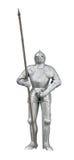 Ritter mit Stange und Klinge Stockfotografie