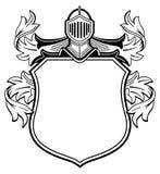 Ritter mit Wappen Stockfoto