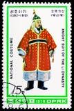 Ritter in Rüstung 2, nationale Kostüme von Li-Dynastie serie, circa 1979 lizenzfreie stockfotos