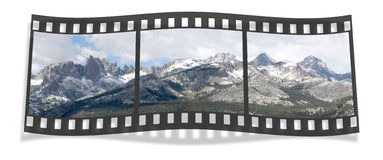 Ritter Range Film Strip Royalty Free Stock Photos