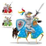 Ritter und Pferd. Lizenzfreie Stockbilder