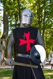 Ritter von der Kreuzordnung Stockbild