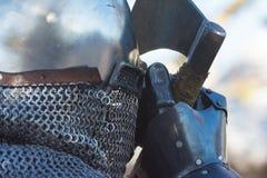 Ritter, welche die Ausführung während Nottinghams kämpfen lizenzfreies stockbild