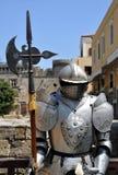 Ritterrüstung. Mittelalterliche Festung von Rhodos. Lizenzfreie Stockfotos