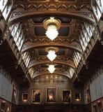 Rittersaal, Burg Lockenhaus, Burgenland, Oostenrijk Royalty-vrije Stock Foto's