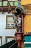 Ritterskulptur, Selestat Stockfoto
