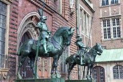 Ritterstatue in Bremen Stockbilder