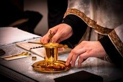 Ritual. Detail of orthodox church ritual Royalty Free Stock Photography