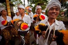 Ritual antes do dia do Balinese do silêncio Foto de Stock Royalty Free