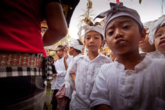 Ritual before Balinese Day of Silence Royalty Free Stock Image