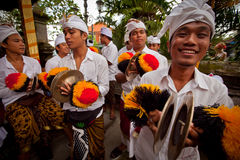 Ritual before Balinese Day of Silence Royalty Free Stock Photo