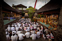 Ritual before Balinese Day of Silence Stock Image