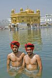 Ritual Bathing In Amritsar Royalty Free Stock Photo