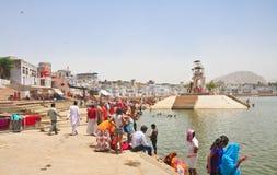 Ritual bathing. Pushkar. India Stock Photography