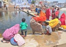 Ritual bathing. Pushkar. India Stock Images