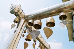Ritual bells in the buddhist temple Stock Image