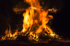 Ritual bonfire Royalty Free Stock Photo