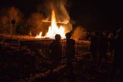 Ritual bonfire Stock Image