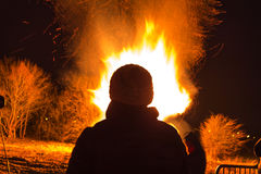Ritual bonfire Royalty Free Stock Images