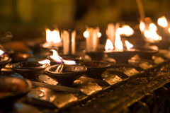 Ritual candles Royalty Free Stock Image