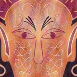 Ritual or carnival mask, face detail Stock Photography