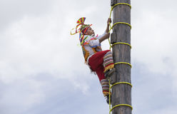 Ritual ceremony of the Voladores Flying Men Stock Photos