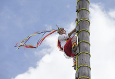 Ritual ceremony of the Voladores Flying Men Royalty Free Stock Photo