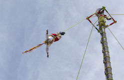 Ritual ceremony of the Voladores Flying Men Stock Photography