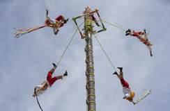 Ritual ceremony of the Voladores Flying Men Stock Images